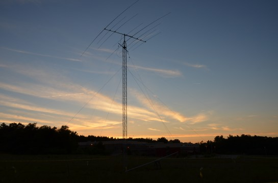 WRTC Tower And Antennas At Sunset