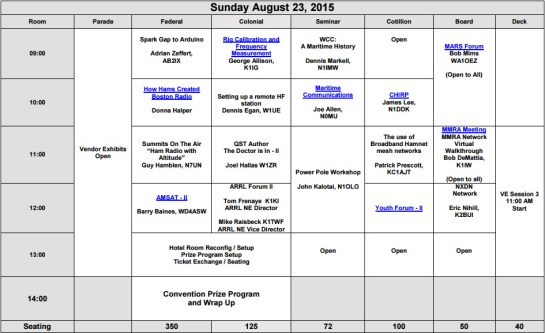 Sunday Forum Schedule