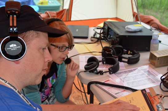 Young Person Operating During field Day
