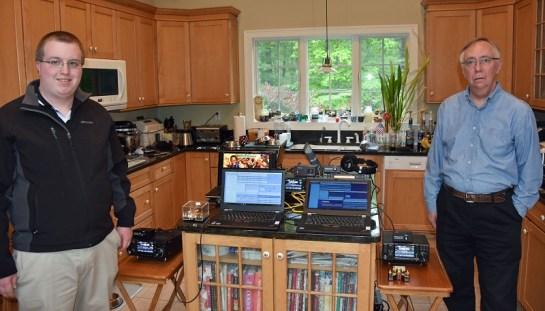 Pierce, K1FOP and Hamilton, K1HMS Testing CW Stations
