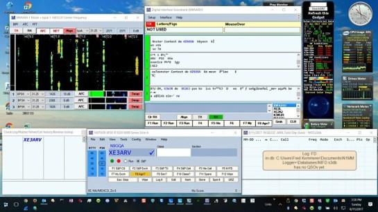 Digital Station Main Display - N1MM+