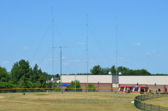 40m V-Beam Wire Antenna at Field Day