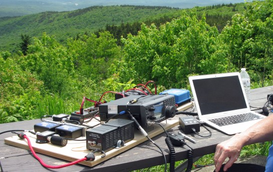 Our 1.2 Portable Satellite Station on Mt. Kearsarge