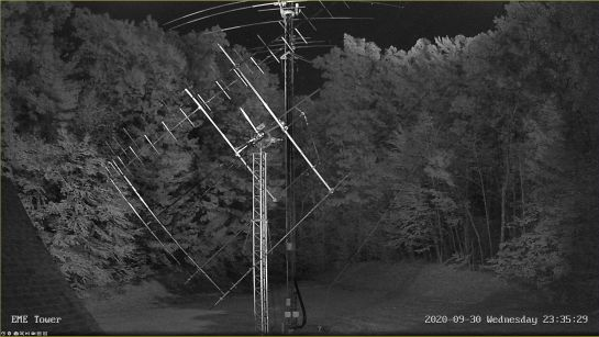 EME Tower Camera at Night