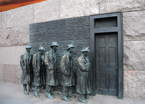 Image result for bread line statue