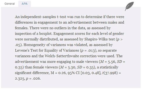 Features Writing Up Laerd Statistics