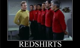 Star Trek meme that shows doomed red-shirts.