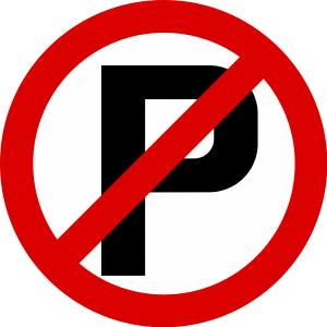 No parking sign that shows a crossed out letter P. No P values in nonlinear regression.