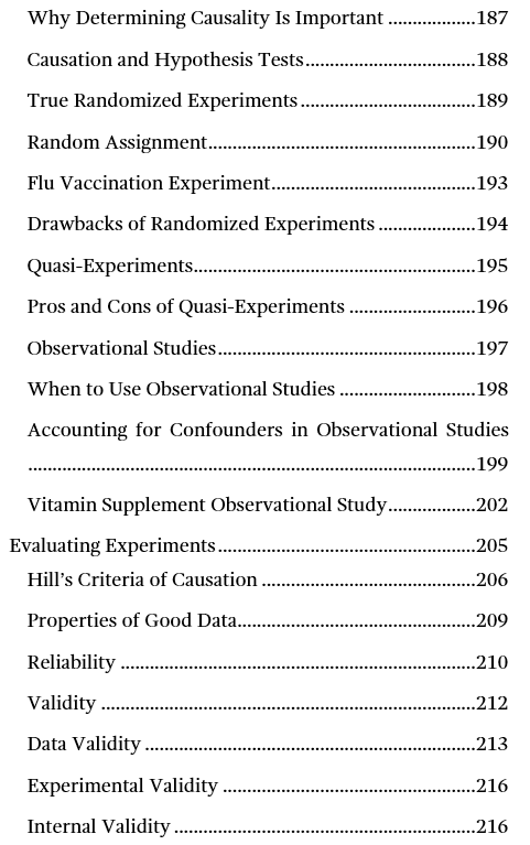 Image of page five for the table of contents for Introduction to Statistics: An Intuitive Guide.