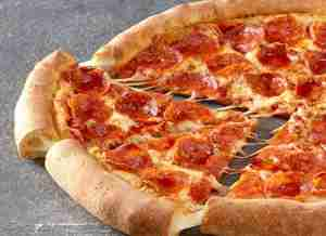 Photograph of a pizza.