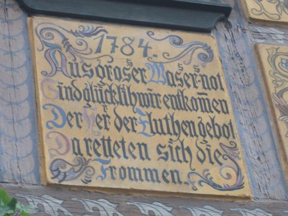Tafel am Leonhardi-Museum Dresden anlässlich des Hochwassers von 1784