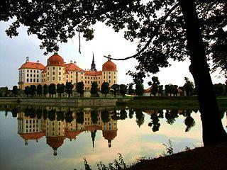Schloss Moritzburg, Uferblick