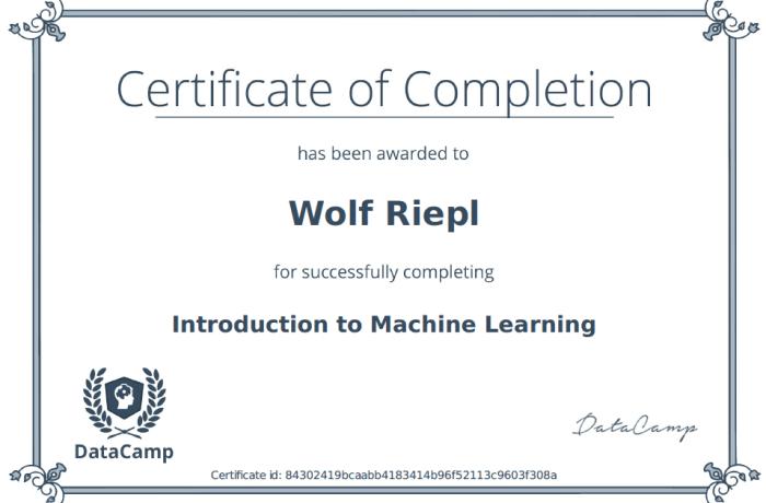 DataCamp: Machine Learning