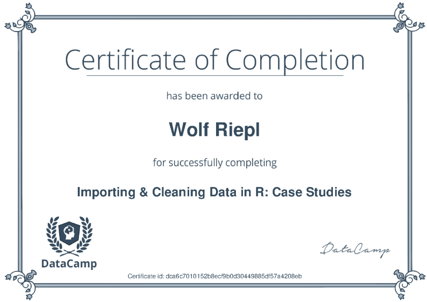 DataCamp: Importing Cleaning Case Studies