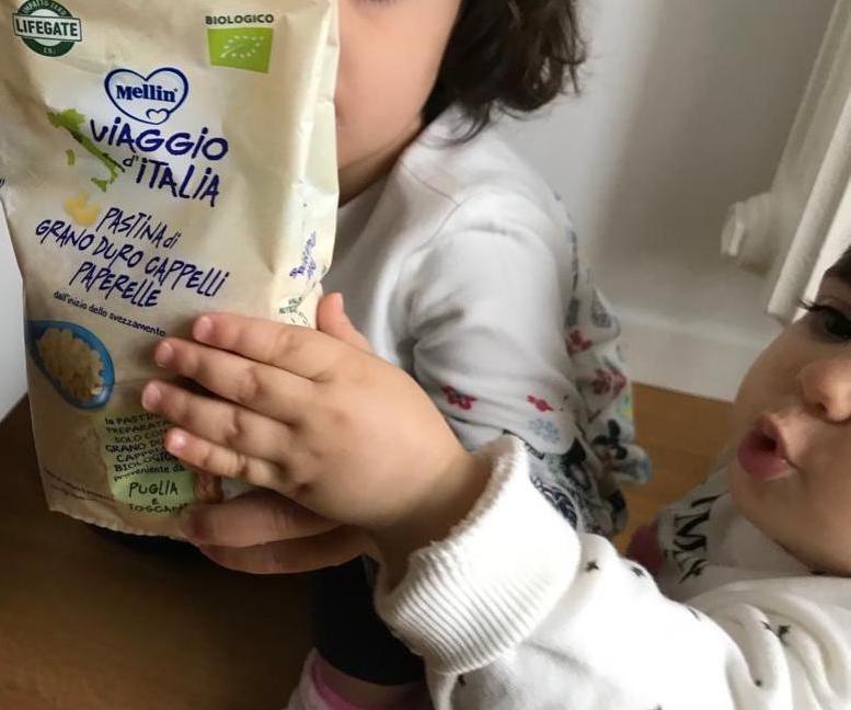 Pastina di grano duro della linea BIOLOGICa per bambini di MELLIN