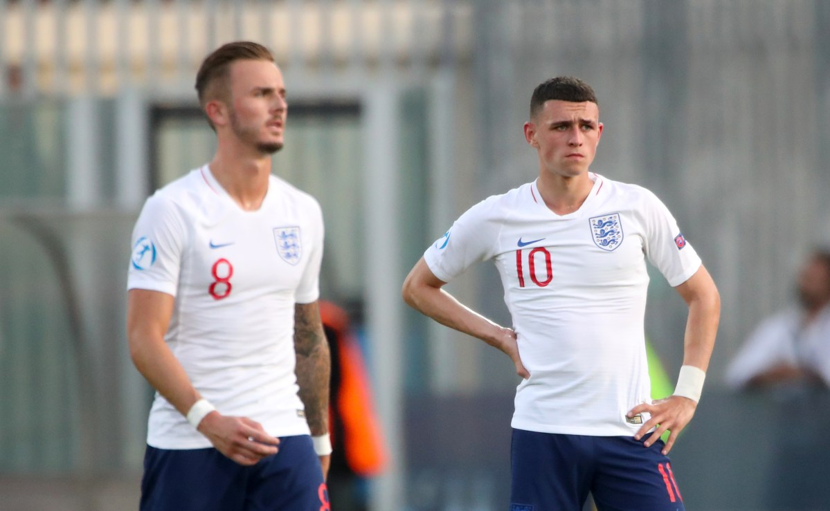 England Under-21 players James Maddison and Phil Foden