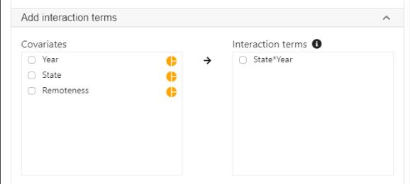 add interaction term