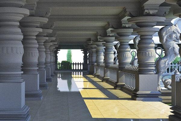Amarashilpi Jakanachari's Hoysala architecture now at Statue of Equality