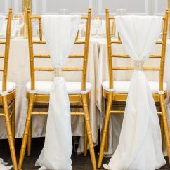 Gold Chair Covers With Black Sash Best Place To Buy An Office 5 00 Chiavari Rental And Sashes