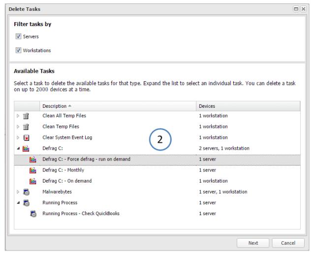 bulk delete tasks 2