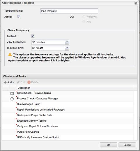 mac monitoring templates