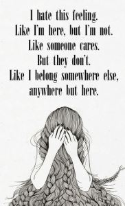Feeling Alone Fb status dp