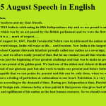 {Top*} 15 August 2018 Anchoring Script, Speech For celebration