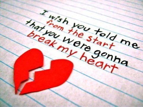 Heart Broken Fb Quotes For GF bF