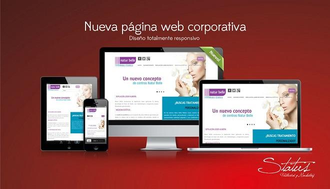 Diseño web para Natur belle Médico Estética