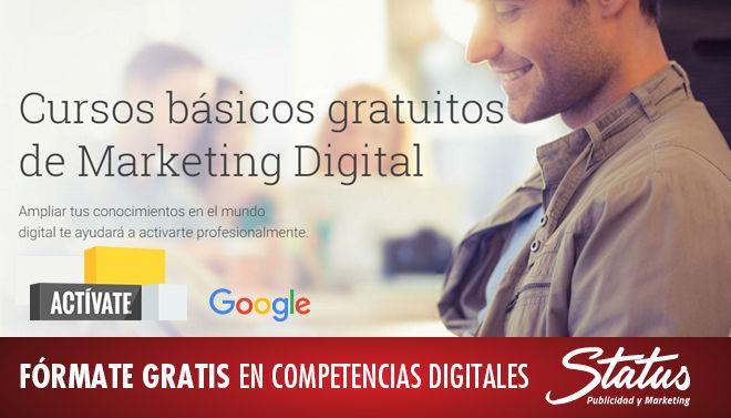 Cursos gratis Google, Cursos Marketing Digital