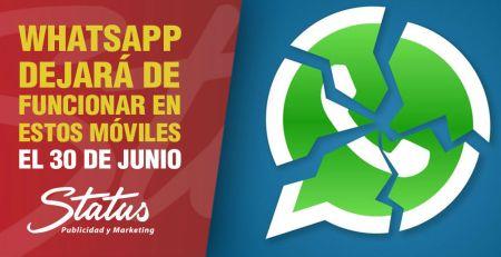 WhatsApp dejará de funcionar en estos móviles