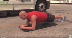 Healthy Trucker Plank Exercise