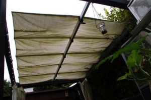 Eines meiner ersten Projekte - Cabrio-Dach für einen Pavillon
