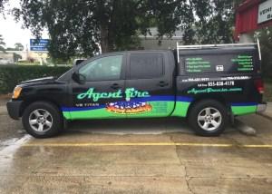 agent fire partial vehicle wrap