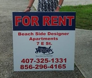 Watson Realty Custom Sized Coroplast Sign