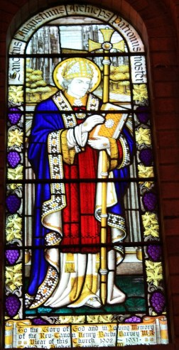 St Augustine in front of Canterbury Cathedral