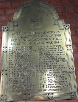 War Memorial - World War 1