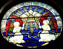 The Crown of Life - East wall (above Apse arch)