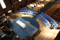 Nave Altar and Platform from the organ loft