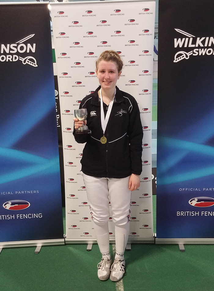 Photo of Mhairi at the British Youth Championships 2016