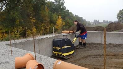 Hutnění betonového recyklátu