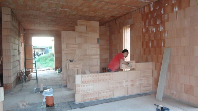 Stavba vnitřních zdí