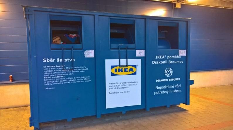 Kontejnery na textil u řetězce IKEA
