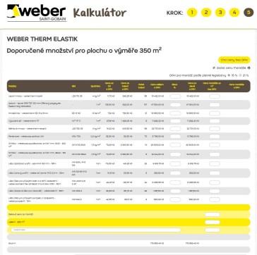 Kalkulátor Weber