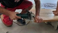Frézování otvoru pro dřevěné lamely