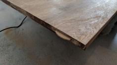 Přilepené dřevěné lamely