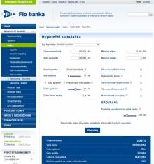Hypoteční kalkulačka FIO banky