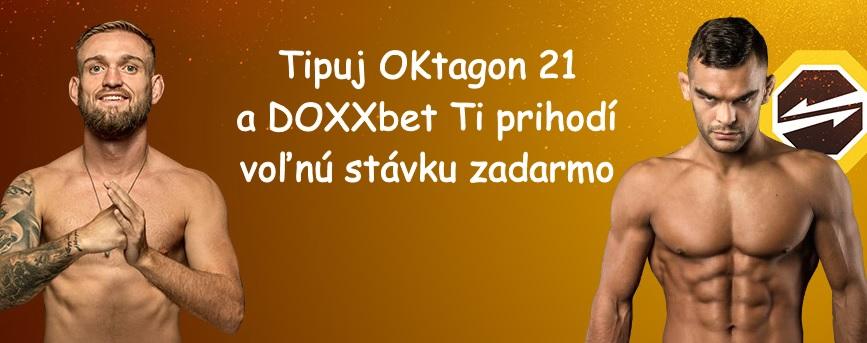 Tipuj Oktagon 21 a získaj €5 voľnú stávku na DOXXbete!