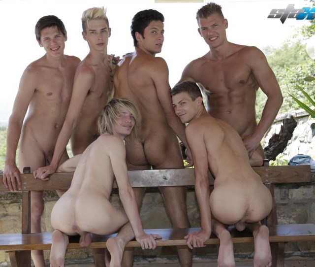 Be They Playing Around Together On The Beach Or Cavorting In The Pool Using A Collection Of Dildos As Water Toys This Group Of Horny Bastards Know