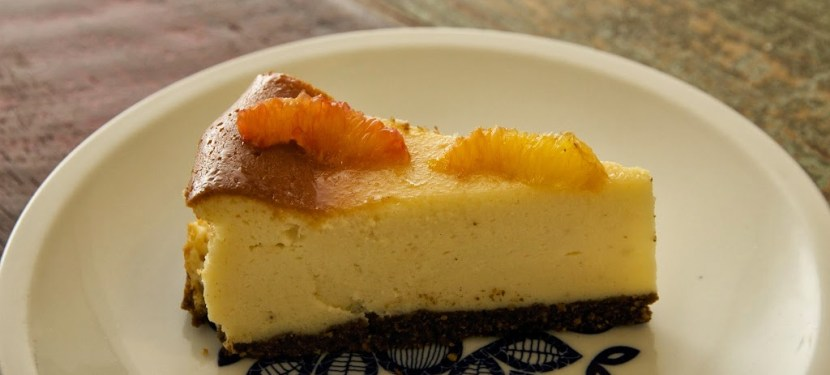 Cheesecake with blood orange